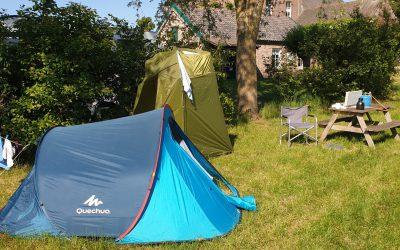 Campingplek met tent